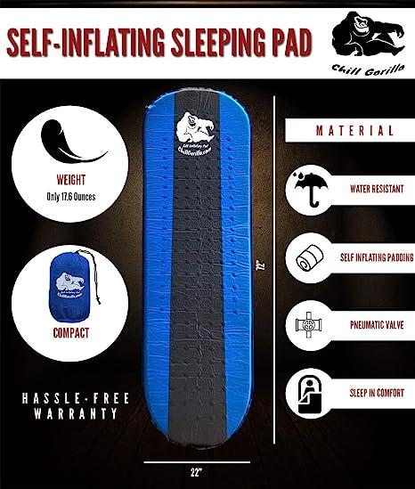 Amazon.com: Chill Gorilla Almohadilla de dormir autoinflable ...