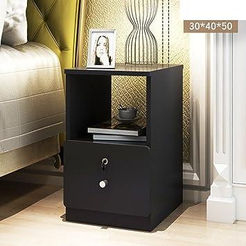Mini Nachttisch Schlafzimmer Ultra Schmal Einfaches Kabinett Des Bettes  Kleines Schließfach Mit Schloss Montage Nachttisch