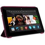 "rooCASE Kindle Fire HDX 7"" Origami SlimShell Case Cover - Magenta"