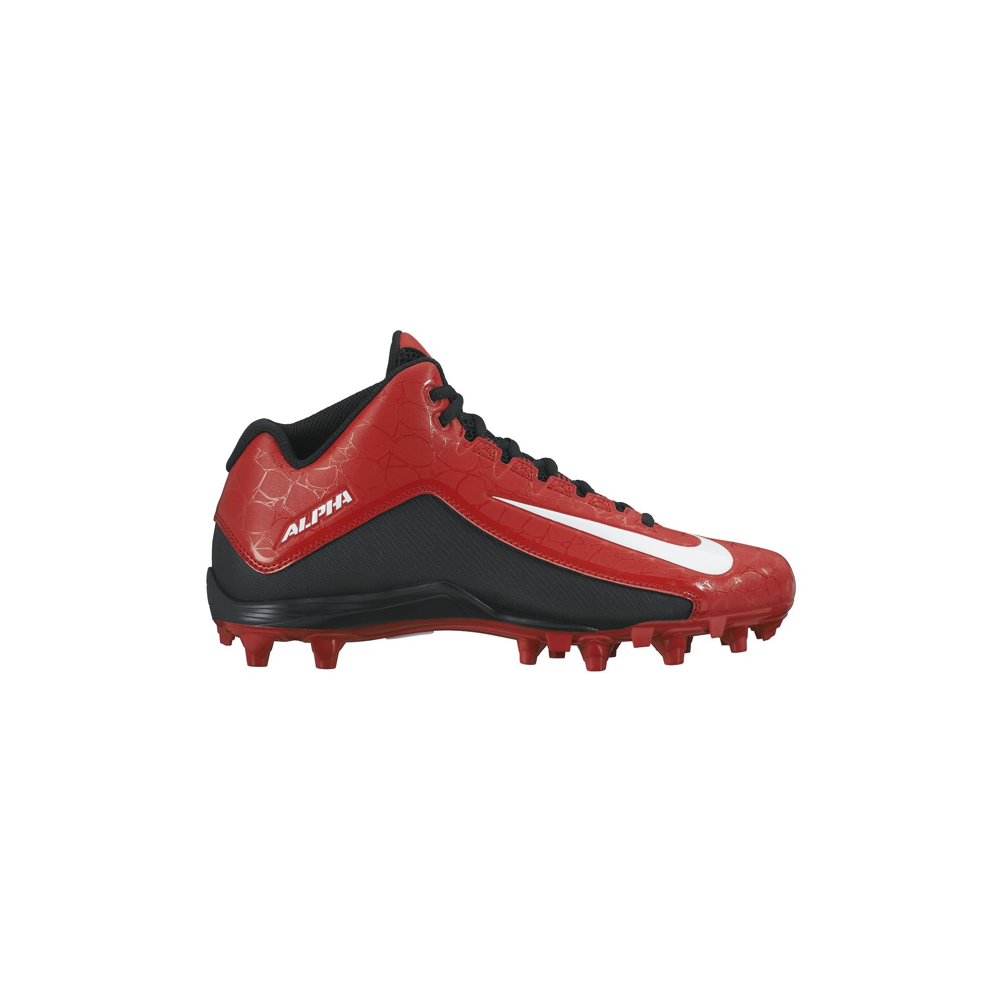 Nike Men's Alpha Strike 2 Three-Quarter Football Cleat University Red/Black/White Size 9.5 M US