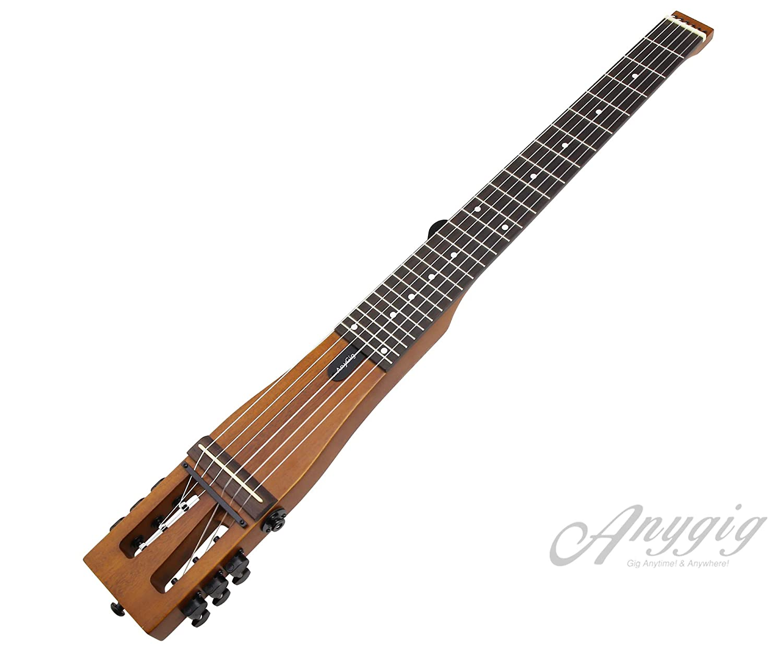 Anygig AGNSEナイロン弦フルスケール長25.5インチトラベラーギターバックパッカーマットブラウン   B07MF97MS4