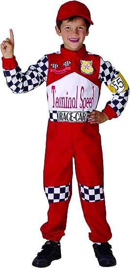 Disfraz de piloto de carreras para niño: Amazon.es: Juguetes y juegos