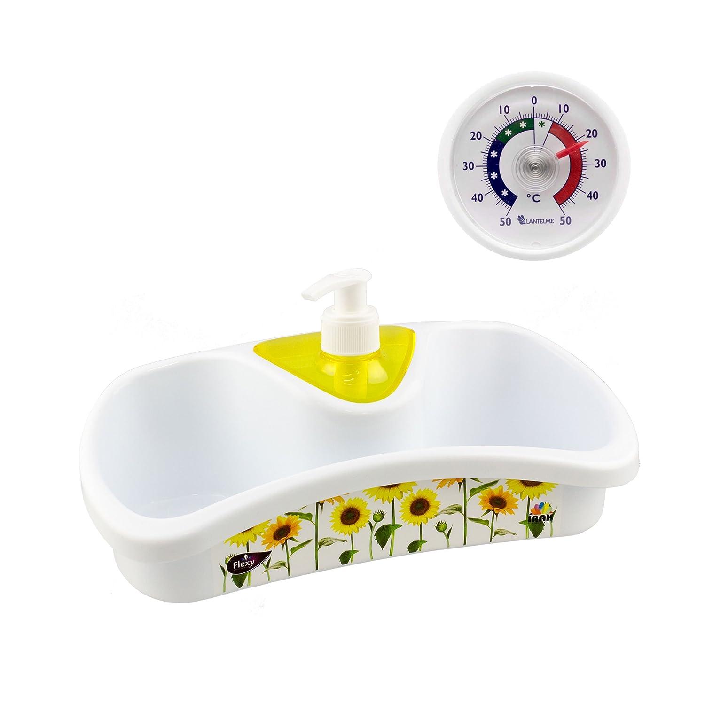 Spülmittelspender - Küchenhelfer Kunststoff weiß/gelb: Amazon.de ...