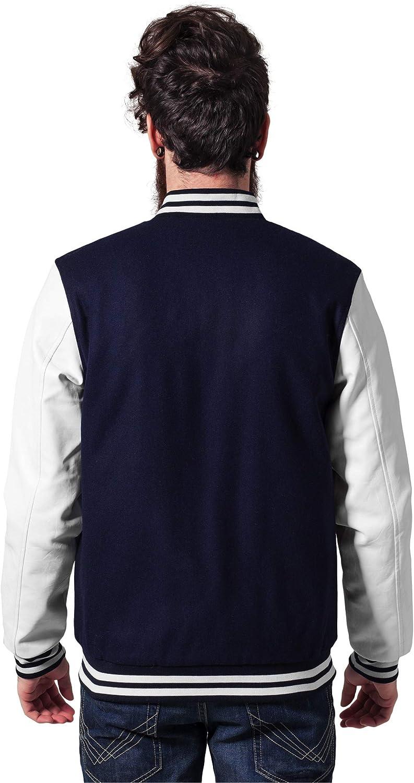 Urban Classics TB201 Herren Jacke Bekleidung Oldschool College Jacket Navy/White