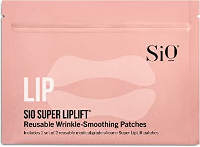 SiO Beauty Super LipLift   Smile & Lip Anti-Wrinkle Patches 2 Week Supply   Overnight Smoothing Silicone Patches For Lip & Smile Wrinkles And Fine Lines