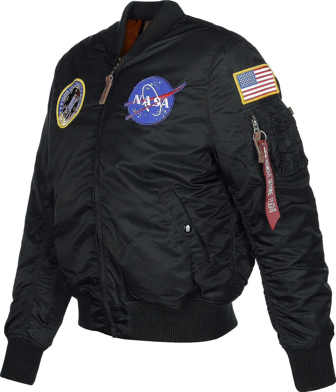 Black 03 Nero M Uomo ALPHA INDUSTRIES MA- 1 VF NASA Bomber