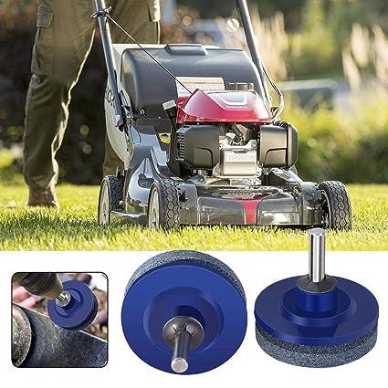 Amazon com : HEYJUDY Lawn Mower Sharpening Lawn Blade Drill Blade