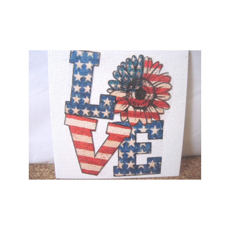 Amazon Com Americana Rustic Refrigerator Magnet Home Decor Patriotic Gift Handmade