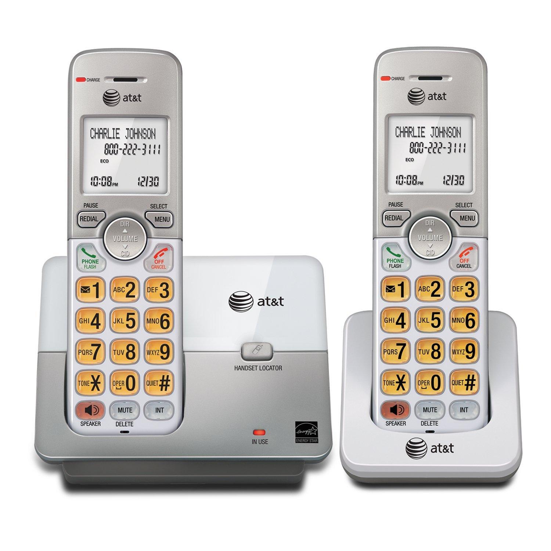 Amazon.com : EL51203 DECT 6.0 Teléfono con identificador de llamadas / llamada en espera, 2 auriculares inalámbricos, Plata : Office Products