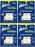 Macks Pillow Soft Moldable Silicone Putty Earplugs 6 Pairs x 4 (24 Pairs)