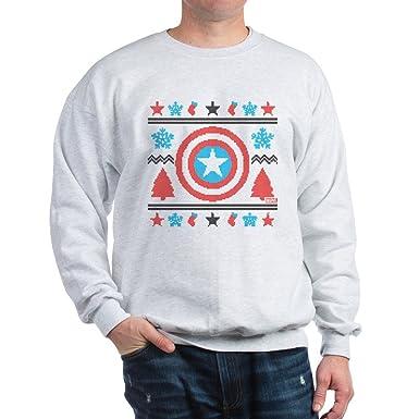 Amazoncom Cafepress Captain America Ugly Christmas Sweatshirt