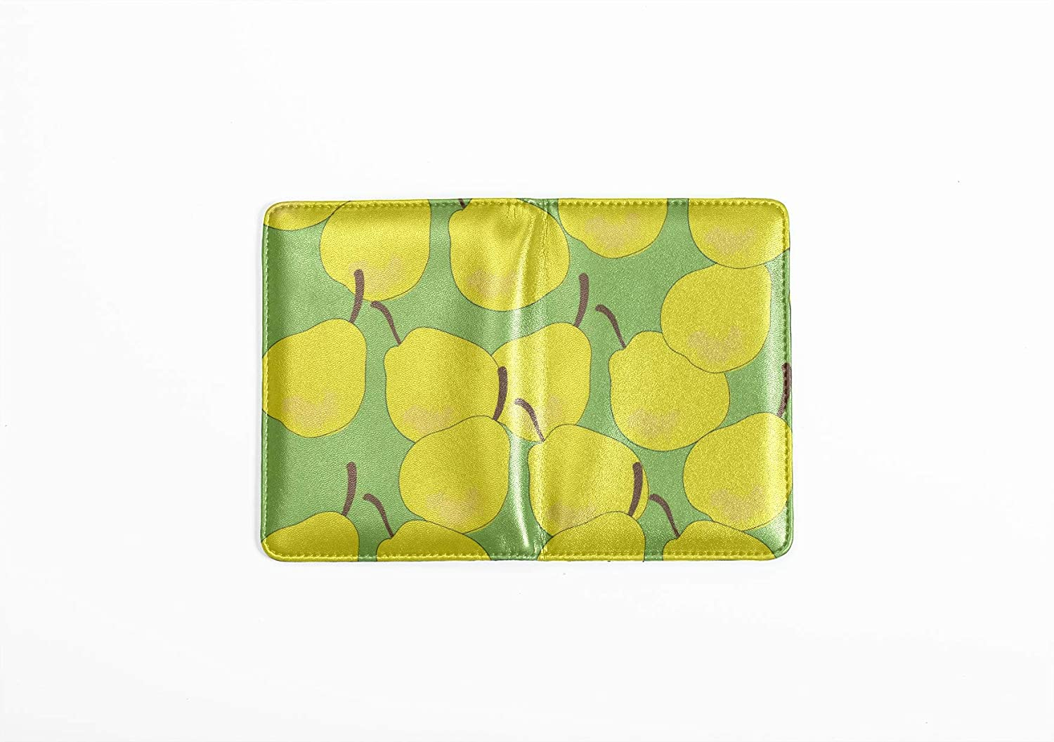 Personalized Passport Cover Cute Fashion Style Fruit Pear Us Passport Holder Cover Multi Purpose Print Canvas Passport Cover Travel Wallets For Unisex 5.51x4.37 Inch