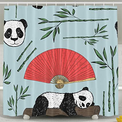 Image Unavailable Not Available For Color Sleeping Panda Shower Curtain