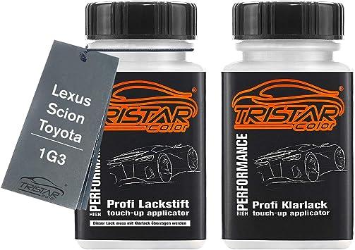 Tristarcolor Autolack Lackstift Set Für Lexus Scion Toyota 1g3 Marlingrau Metallic Silver Streak Perl Basislack Klarlack Je 50ml Auto