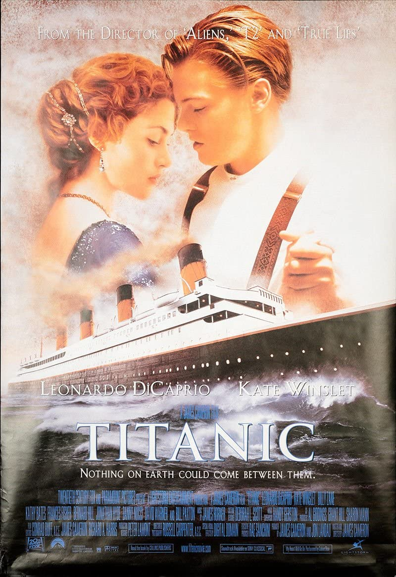 Titanic 27 X40 Original Movie Poster One Sheet 1997 Leonardo Dicaprio Kate Winslet At Amazon S Entertainment Collectibles Store