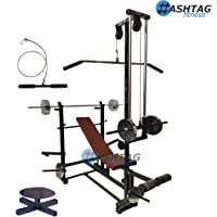 HASHTAG FITNESS only 20 in 1 Bench & Home Gym Equipment for Men with Twister and LAT Pull Down Handle