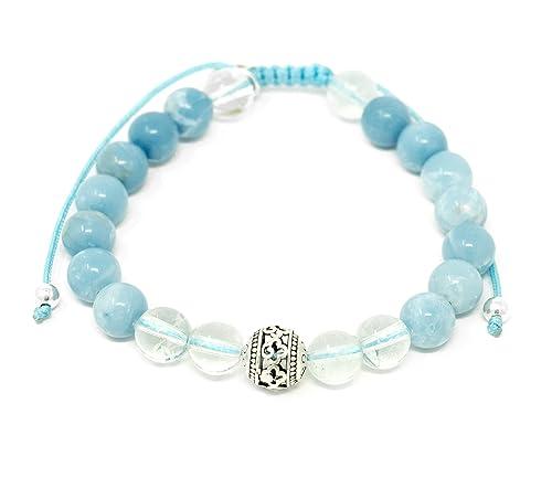Larimar Accessories | 8mm Mala Beads Bracelet | Mala Gemstone Bracelet | Mala Yoga Bracelet | Mala Prayer Bracelet | Mala Meditation Beads Bracelet | ...