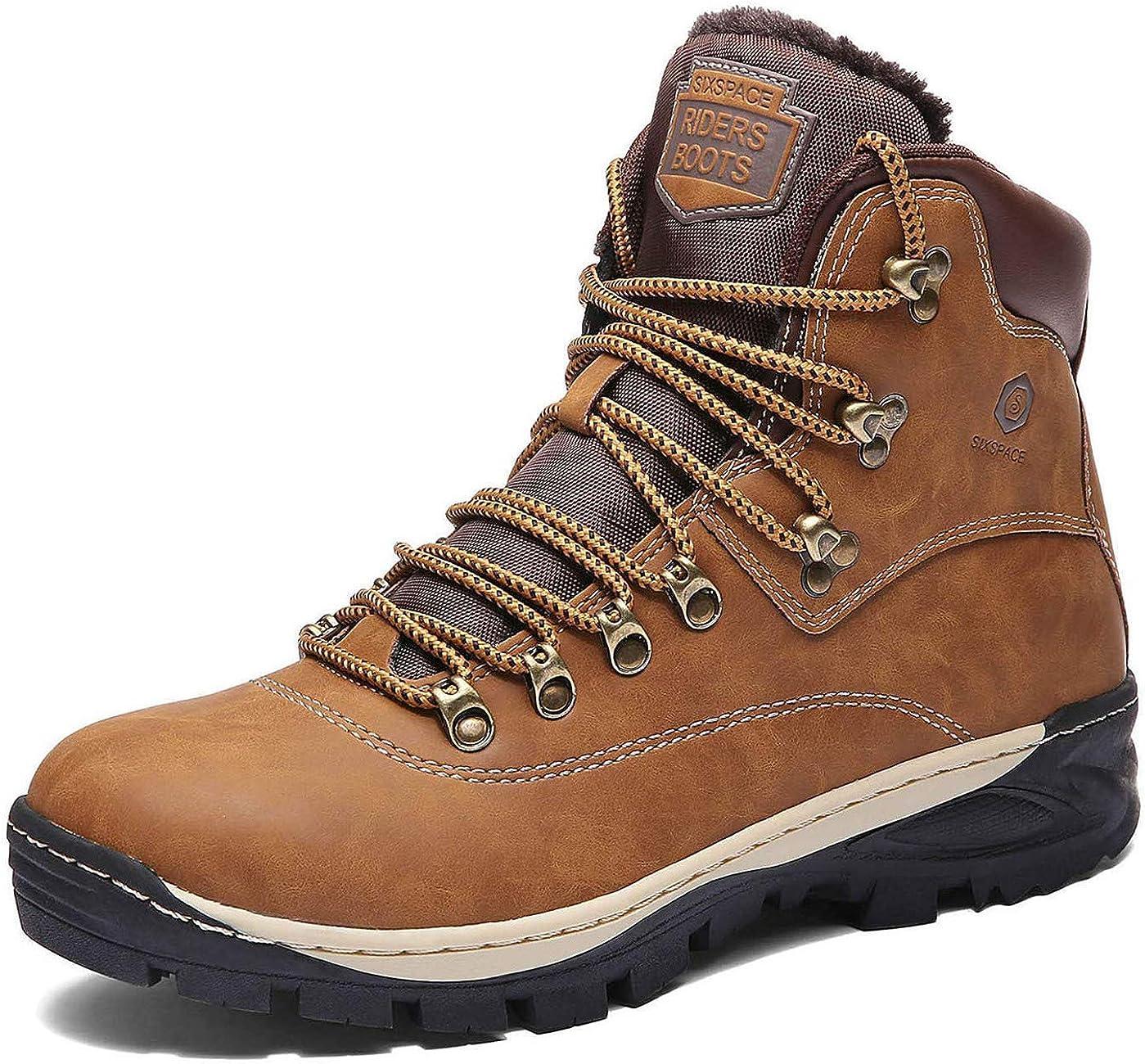 Hombre Botines Zapatos Botas Nieve Invierno Botas Trekking Zapatos Fur Forro Aire Libre Boots