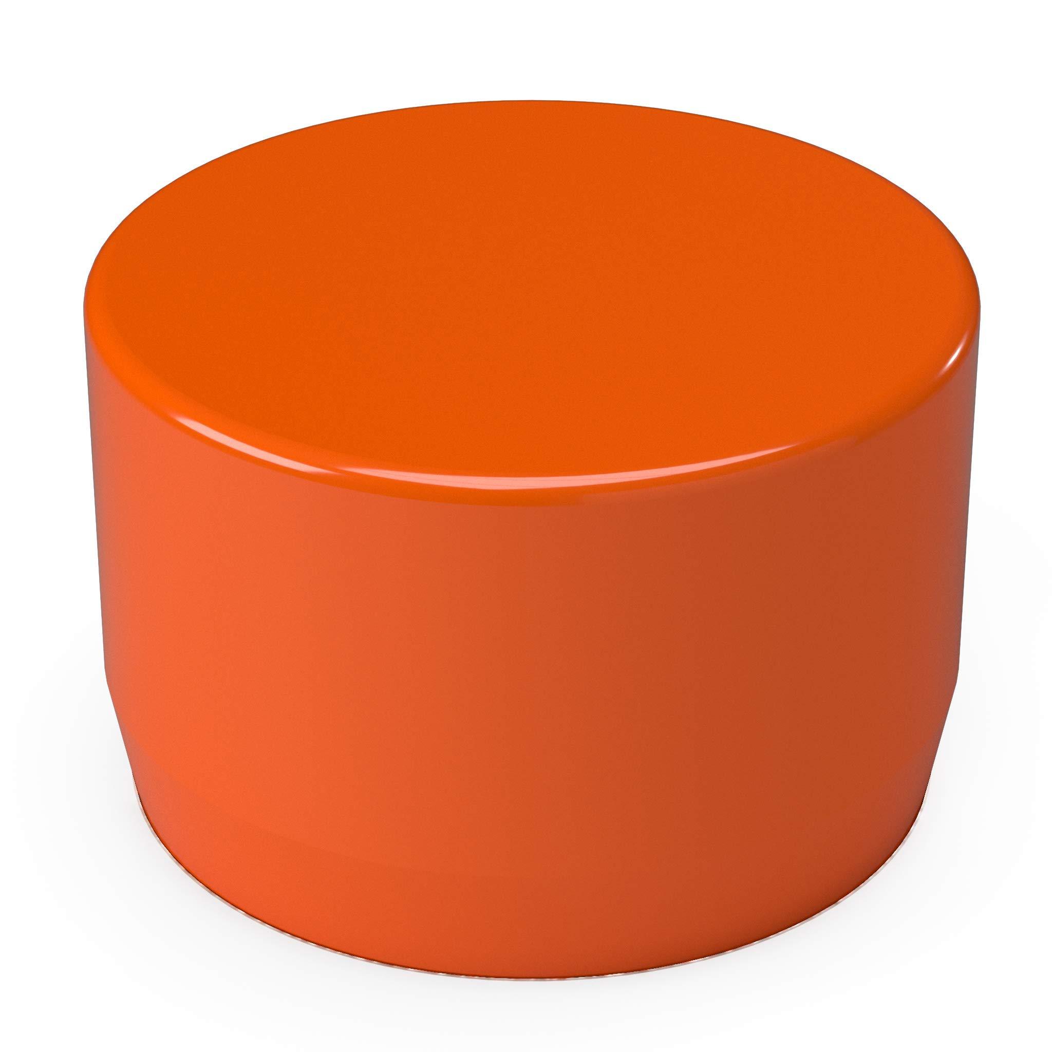 FORMUFIT F001EEC-OR-10 PVC External End Cap, Furniture Grade, 1'' Size, Orange (Pack of 10)