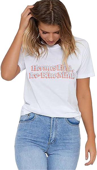 Camisetas para Dama Mujer Camisas de Manga Corta Blancos Top ...
