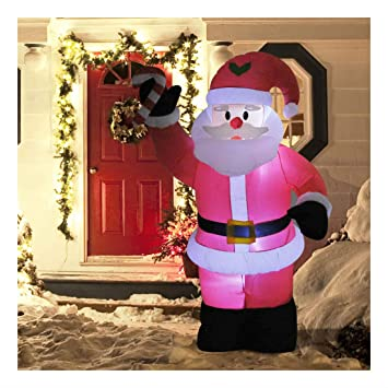 8ft Inflatable Christmas Santa Claus Holiday Airblown Yard Outdoor  Decorations - Amazon.com: 8ft Inflatable Christmas Santa Claus Holiday Airblown