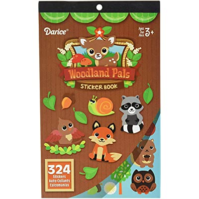 Darice 106-6555D 324 Piece Woodland Critters Theme Activity Sticker Book: Arts, Crafts & Sewing