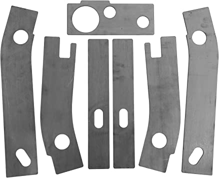 Amazon Com Elitewill 7 Pc Frame Repair Rusted Shackle Weld Plates Fit For 1986 1995 Jeep Wrangler Yj Rear Automotive