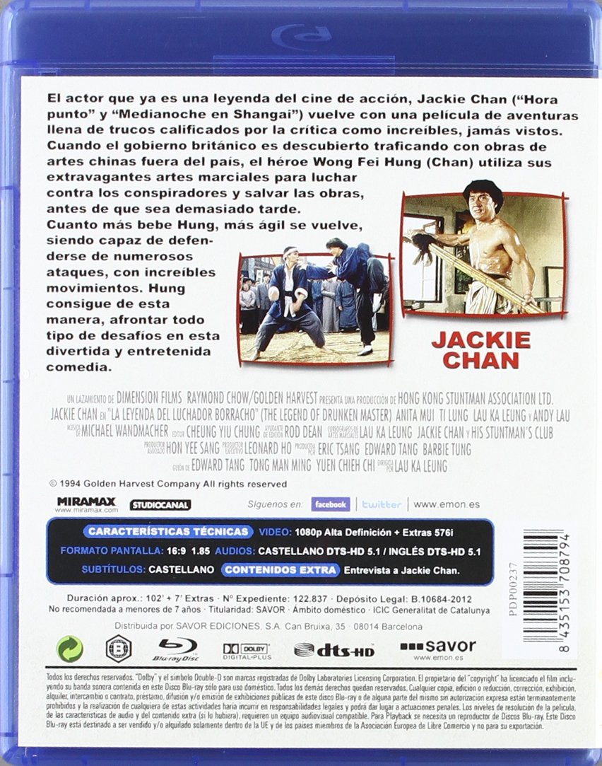 La Leyenda Del Luchador Borracho Blu Ray Amazon Es Jackie Chan Ho Sung Pak Lung Ti Anita Mui Chia Liang Liu Jackie Cha Jackie Chan Ho Sung Pak Edward Tang Eric Tsang Cine Y Series Tv