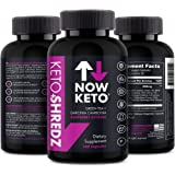 NOW KETO Keto+Shredz Raspberry Ketones Supplement Capsules Supplement To Facilitate Fat Burn, And Stimulate Your Mind Contains Garcinia Cambogia, Green Tea, Caffeine, And Green