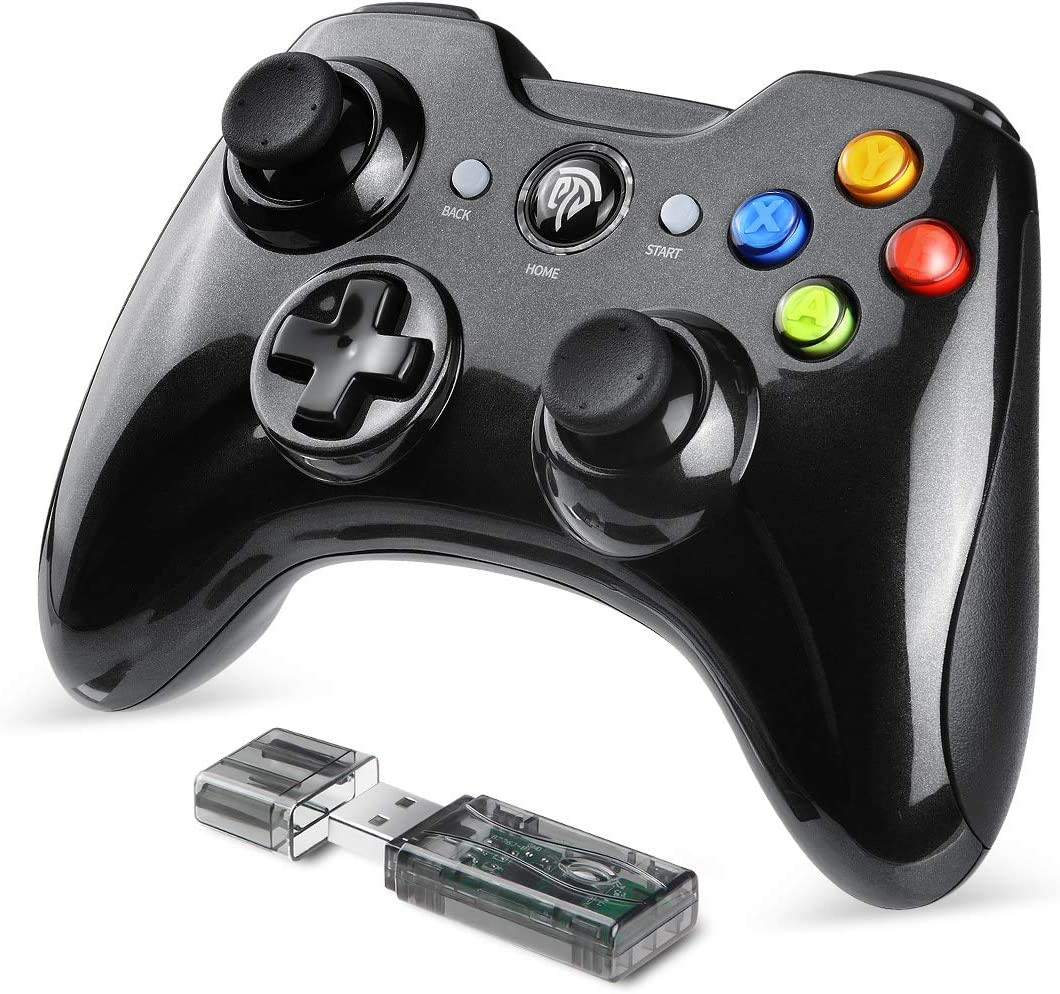 EasySMX Mando Inalámbrico, [Regalo] 2.4GHz Mandos PS3 con Batería Incorporada, Gaming Controller Gamepad Joystick con Doble Vibración para Windows/PS3/PC/Android/Tablet/Andriod TV Box/TV
