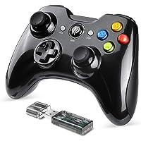 EasySMX Mando Inalámbrico, [2019 Versión] 2.4GHz Mandos PS3 Batería de Litio Incorporada, Gaming Controller Gamepad Joystick con Doble Vibración para Windows/PS3/PC/Android/Tablet/Andriod TV Box/TV