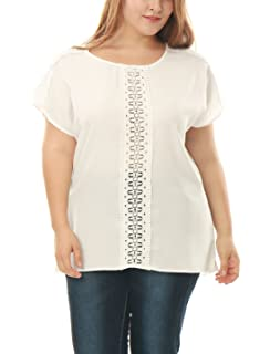 7cb177481a2 uxcell Women Round Neck 3 4 Bell Sleeves Casual Top White XS at ...