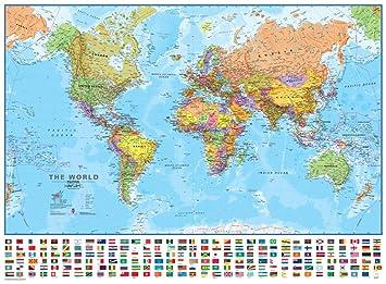 World Political Map 2018 Geography Amazon Canada