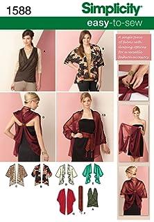 Simplicity Creative Patterns 1588 Kimono Jacket and Wrap Size XS-XXL, A (X