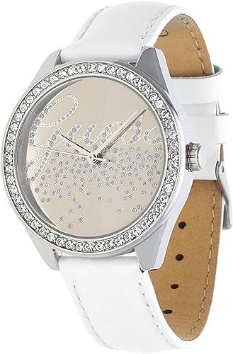 bracelet cuir blanc montre femme