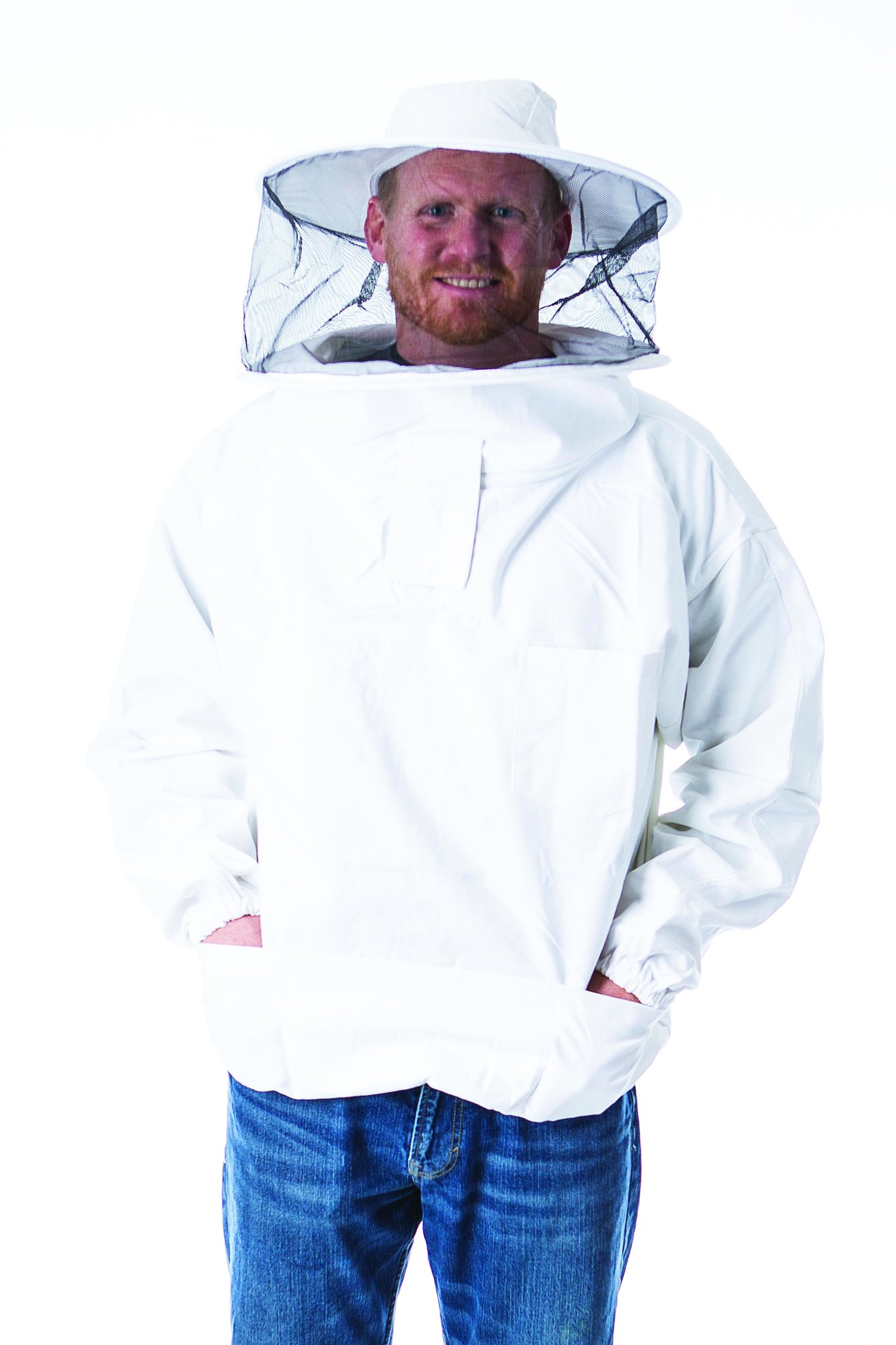 Pigeon Mountain Trading Company PM9278RL 100% Cotton Beekeeper Pullover Jacket, White by Pigeon Mountain Trading Company