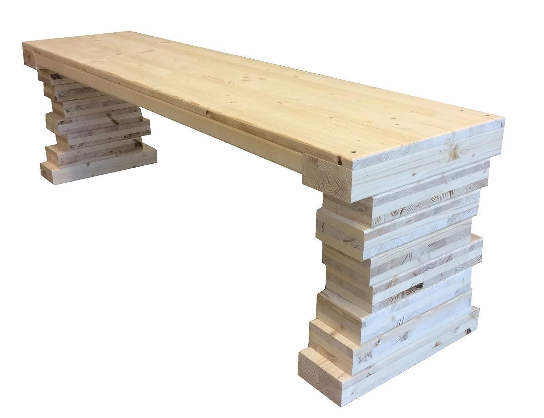 Panca panchina panchetta interno esterno in legno 150x38.5x46h cm anche su misura total wood 2012