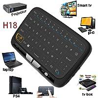 Mini inalámbrico ratón Touchpad y Teclado Combo, super-vip H18toda Panel táctil de gran superficie múltiples dedos 2,4G Wifi Mini Touchpad para Android TV Box, Windows PC, HTPC, IPTV, Raspberry Pi, Xbox 360, PS3, PS4, MacBook.