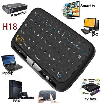 Mini inalámbrico ratón Touchpad y Teclado Combo, super-vip H18 toda Panel táctil de