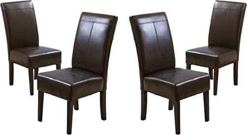 Christopher Knight Home Pertica T-Stitch Leather Dining Chair