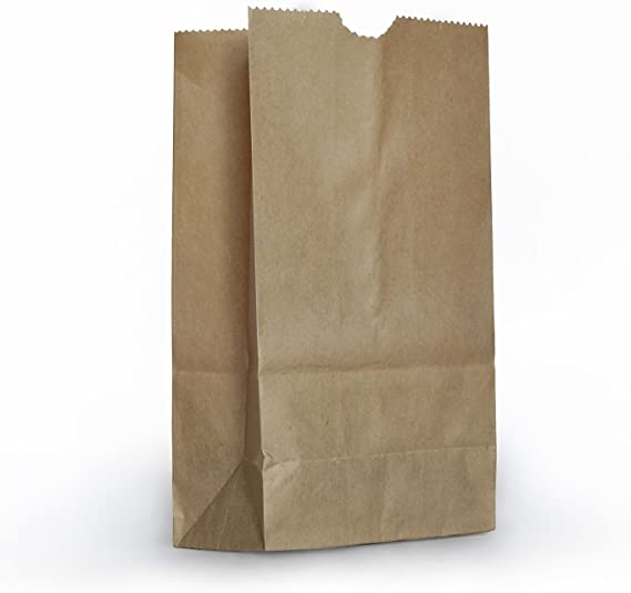 1 X Small Brown Paper Bags - by Lucky Bags: Amazon.es: Hogar
