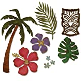 Sizzix 661207 Thinlits Die Set, Tropical by Tim Holtz (8-Pack),,
