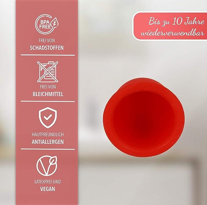 Copa Menstrual AvaLoona de Silicona de Grado Médico, 2 Piezas (fresa, grande)