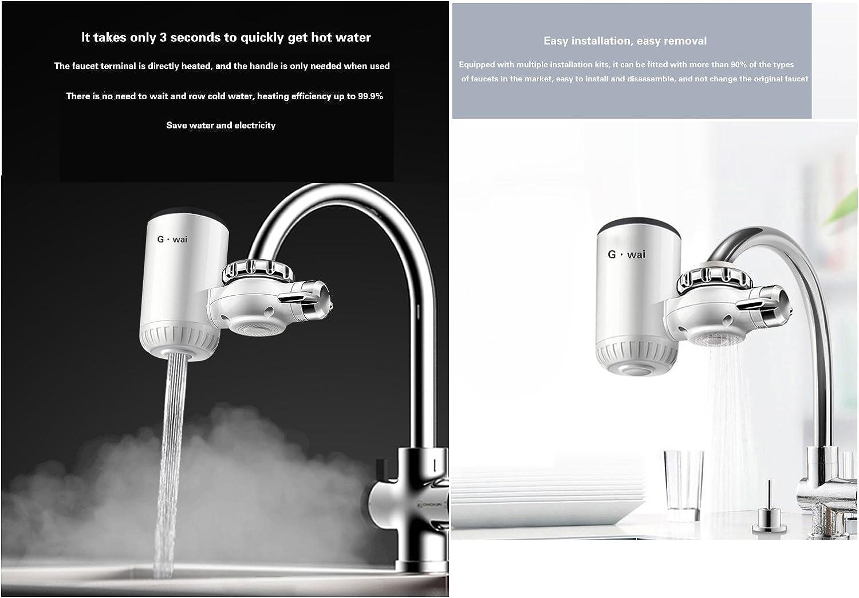 Tavalax Chauffe-eau /électrique kai de cuisine num/érique de chauffage /électrique Robinet eau chaude et froide /à double usage /& instantan/é Wall Mounted + Shower