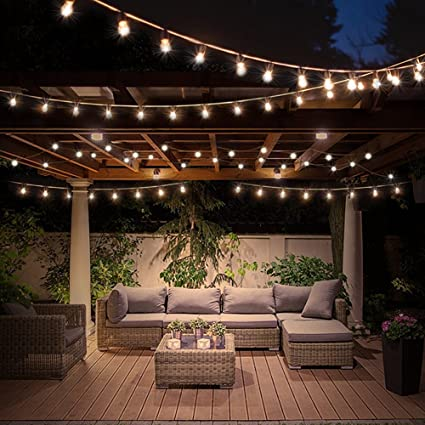 LED Globe String Lights with Clear Bulbs 60lm Warm White Lights Hanging  Indoor/Outdoor Light - Amazon.com : LED Globe String Lights With Clear Bulbs 60lm Warm