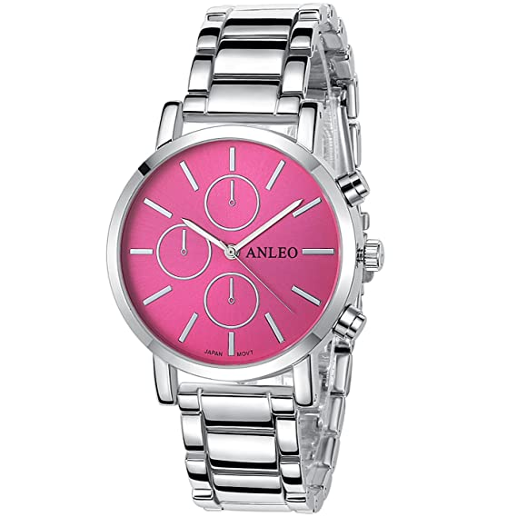 anleo 2015 Nueva Fashion Able de, üppig de, aleación Mujer Reloj; resistente al