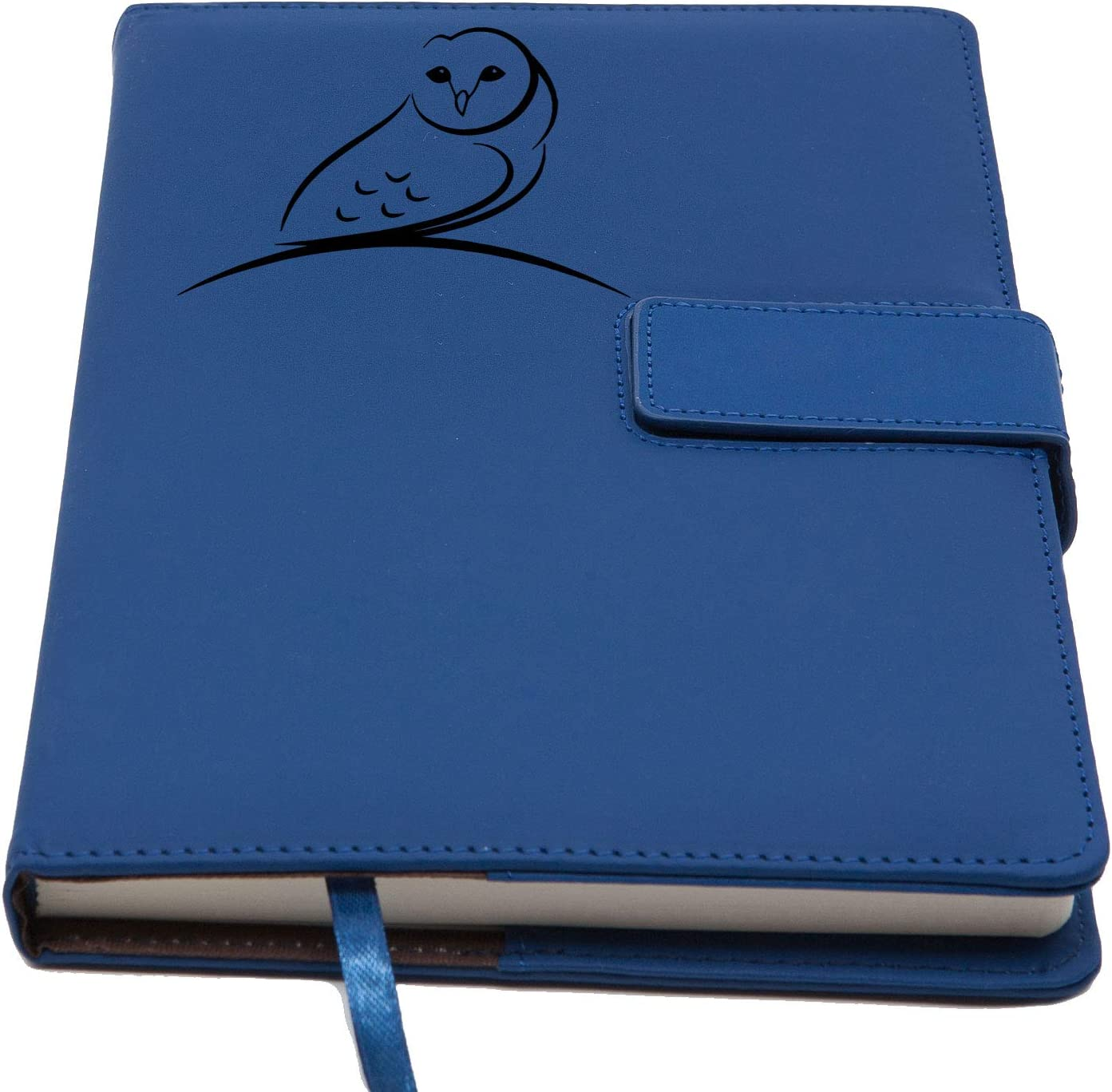 The Nature Owl Refillable Writing Journal | Magnetic Faux Leather Journal, 5 x 8 Inch, 200 Lined Pages Travel Personal Diary, Quality Notebooks and Journals for Men and Women from The Amazing Office