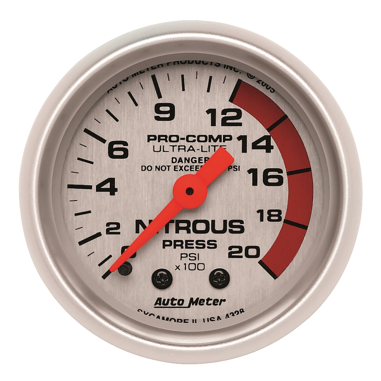 Auto Meter 4328 Ultra-Lite Mechanical Nitrous Pressure Gauge by Auto Meter (Image #1)