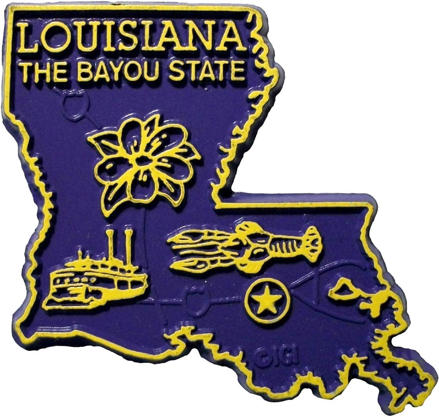 Louisiana State Map Fridge Magnet