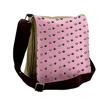20afb3ca3fd Amazon.com   Lunarable Pink Messenger Bag, Tribal Ethnic Asian Culture,  Unisex Cross-body   Messenger Bags